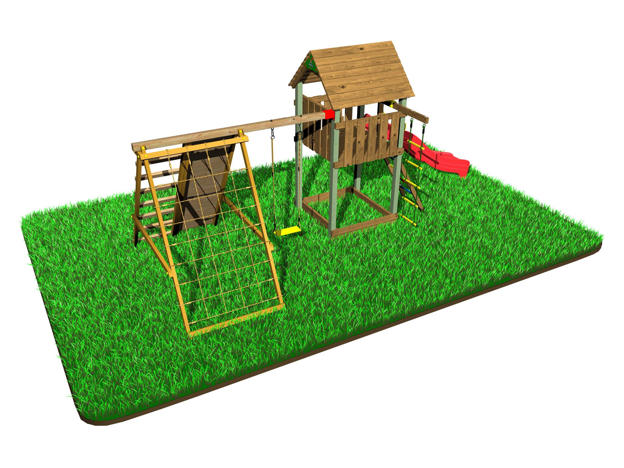 Dětské hřiště Variant B s modulem Drag & Swing