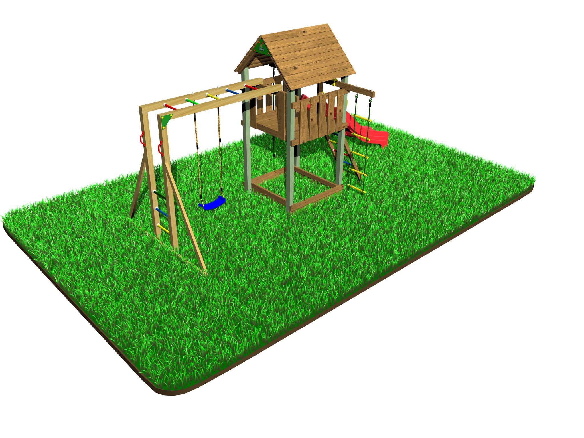 Dětské hřiště Variant A s modulem Hang