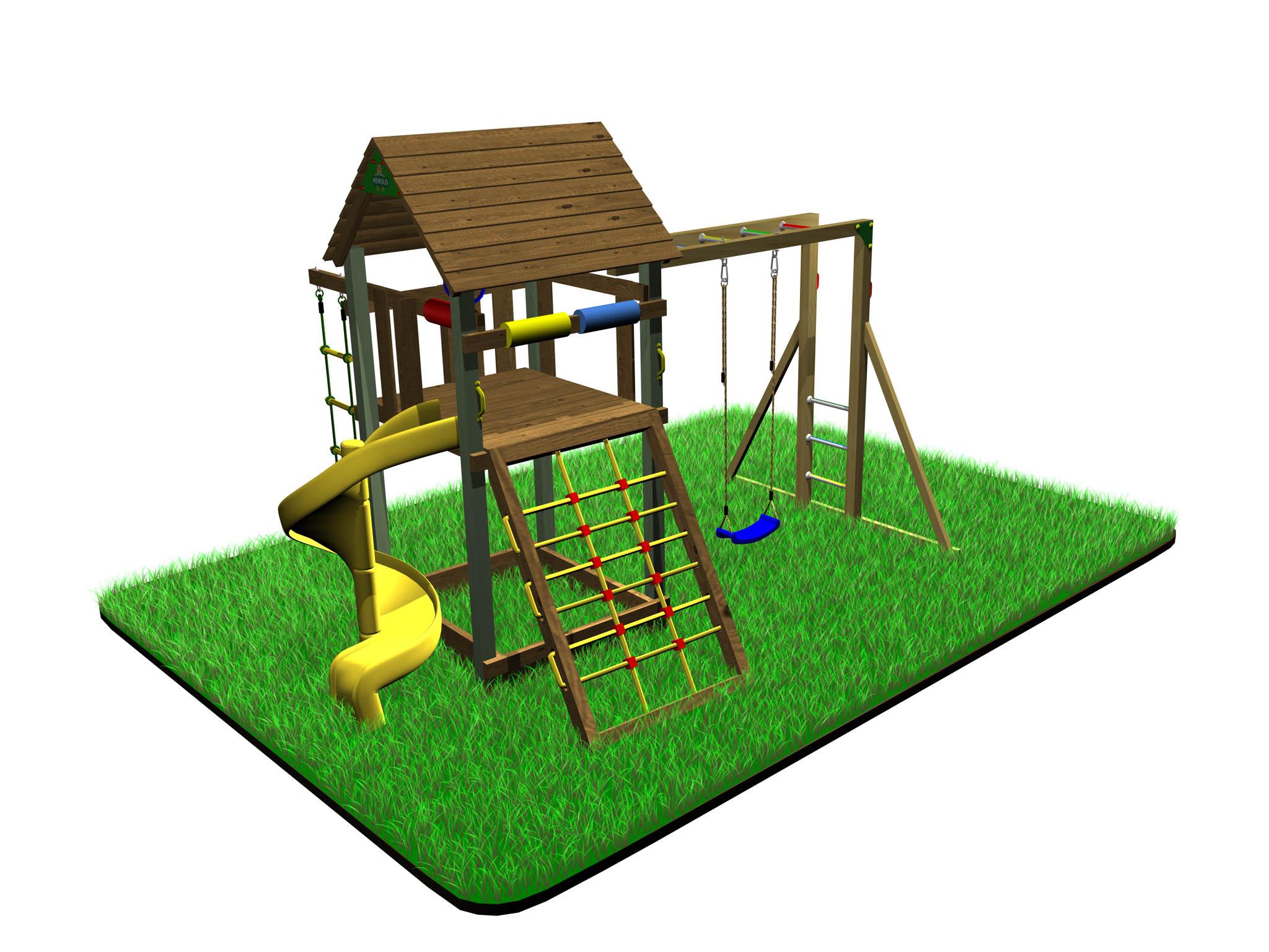 Dětské hřiště Variant C  smodulem Hang