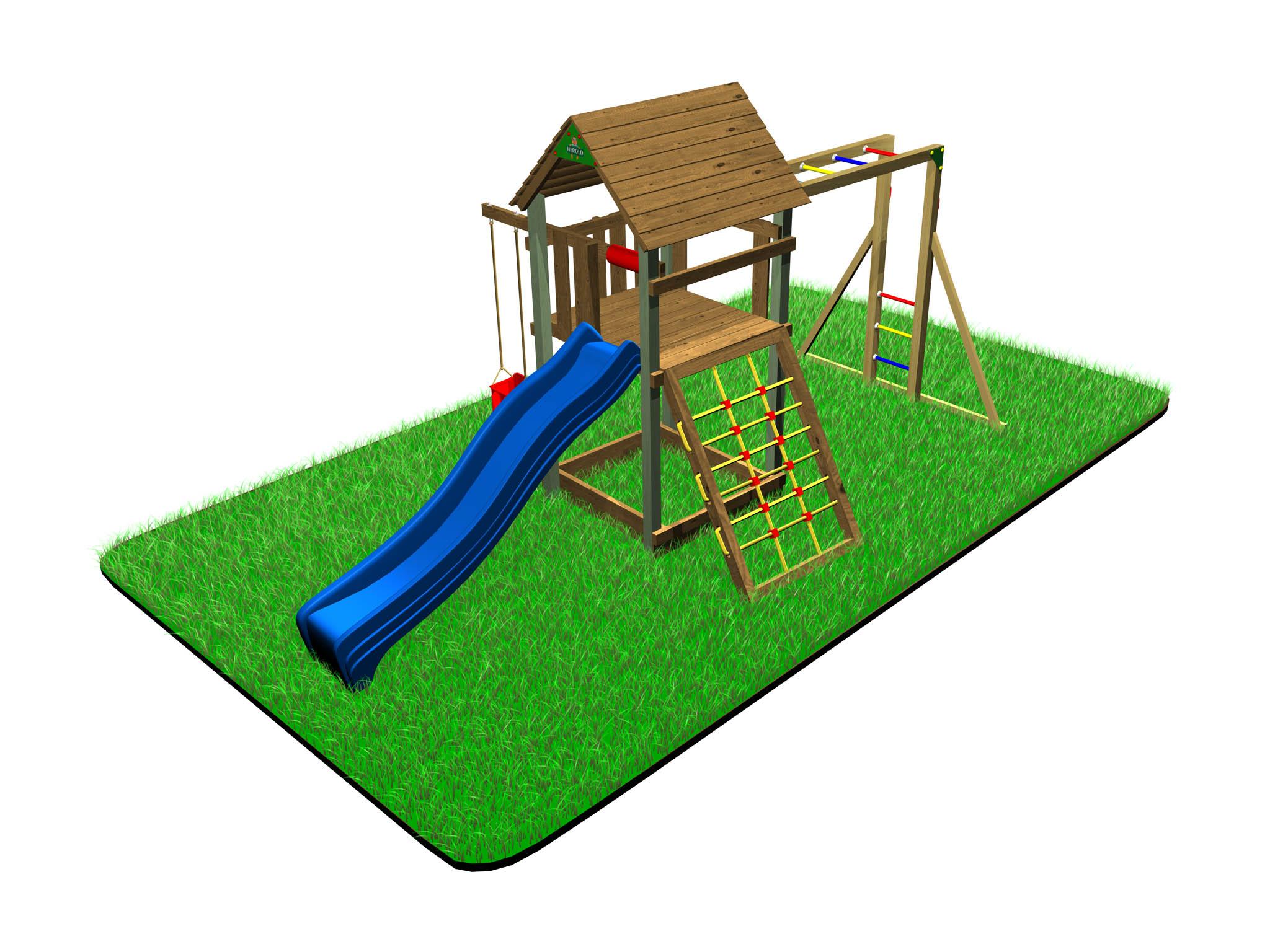 Dětské hřiště Variant C s modulem Hang